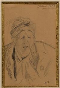 portrait de la mere de l'artiste by camille pissarro