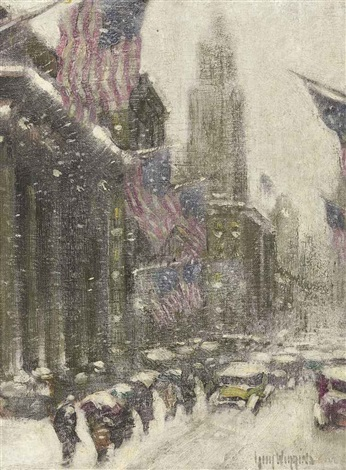 midtown winter by guy carleton wiggins