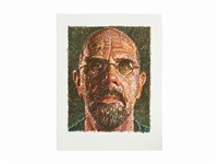 self portrait/lincoln center by chuck close