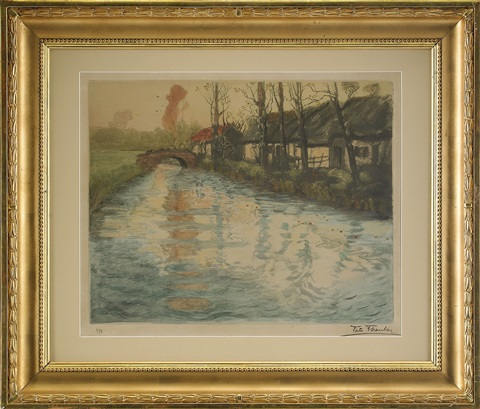 elv riviere by frits thaulow