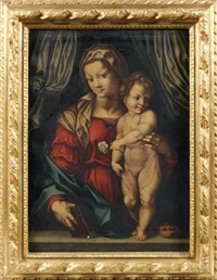 vierge à l'enfant by pontormo (jacopo carucci)