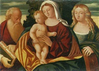 the madonna and child with saints jerome and catherine by francesco rizzo da santacroce