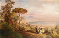the bay of naples by oswald achenbach