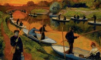 concours de pêche by georges rasetti