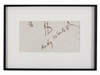 signed shirt by andy warhol