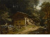 bauernhaus im walde by carl spitzweg
