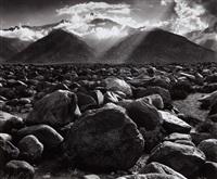 mount williamson, sierra nevada from manzanar, california by ansel adams
