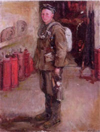 portrait of a soldier by maria fedorovna dobrina