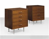 thin edge chests of drawers (pair) by george nelson