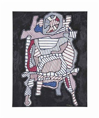 brouette en surplomb ii (wheelbarrow seen from above) by jean dubuffet