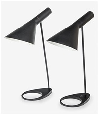 aj table lamps (pair) by arne jacobsen