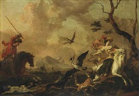 a falconry party by abraham danielsz hondius