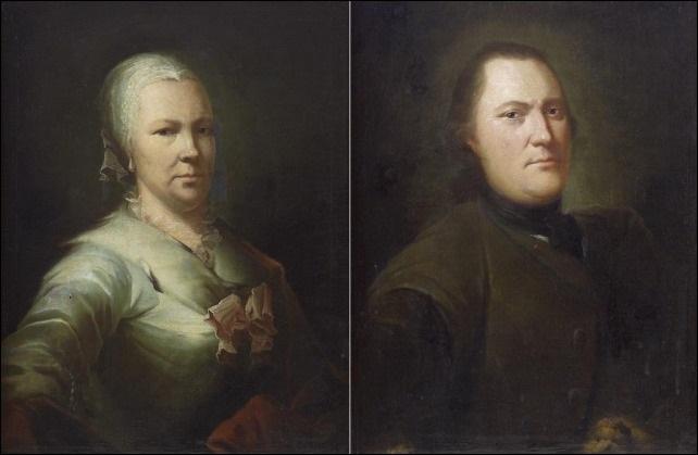 muotokuvapari pair of portraits by isak wacklin