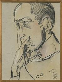 portrait of man by stanislaw ignacy witkiewicz