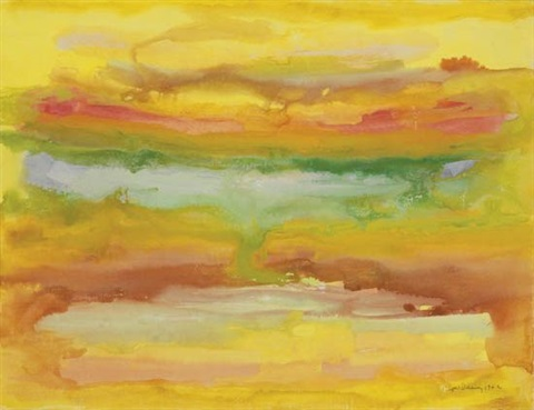 untitled rainbow abstraction by beauford delaney