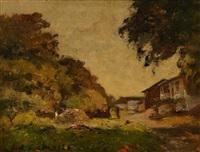 paysage de dordogne by louis alexandre cabié