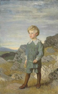 portrait of mervyn roberts by sir george clausen