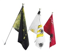 flag (+ 2 others; 3 works) by kelley walker and wade guyton