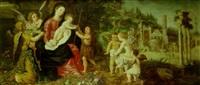 la vierge à l'enfant avec saint jean-baptiste entourés d'anges by wilhelm schubert van ehrenberg