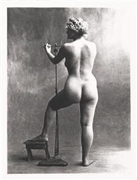 sculptor's model, paris 1950 by irving penn
