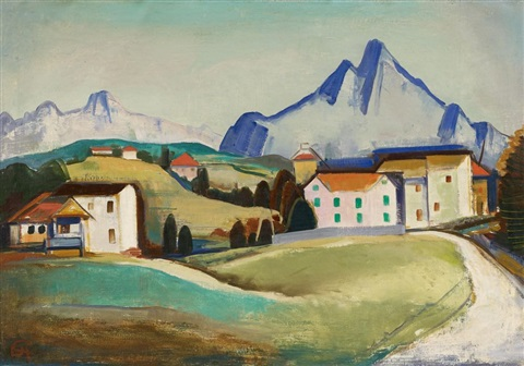 tessiner landschaft by karl hofer