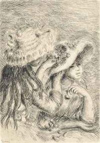 la chapeau epinglé by pierre-auguste renoir