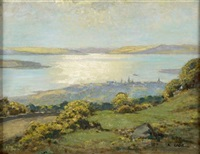view of largs; looking across the isle of cumbrae by robert eadie