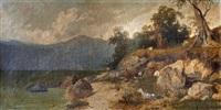 paisaje con cabras by vittorio avanzi