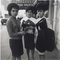three puerto rican ladies, nyc by diane arbus