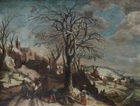 paysage d'hiver by abel grimmer