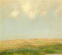 hilly landscape by julius paulsen