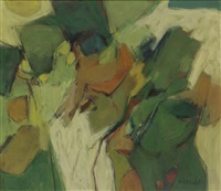 untitled (green landscape) by hale aspacio woodruff