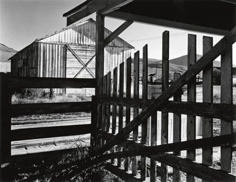 corral and barn litchfield ca by ansel adams