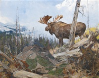 alaskan wilderness by carl clemens moritz rungius