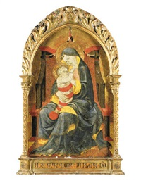 the madonna enthroned by paolo uccello