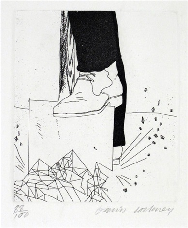 digging up glass by david hockney