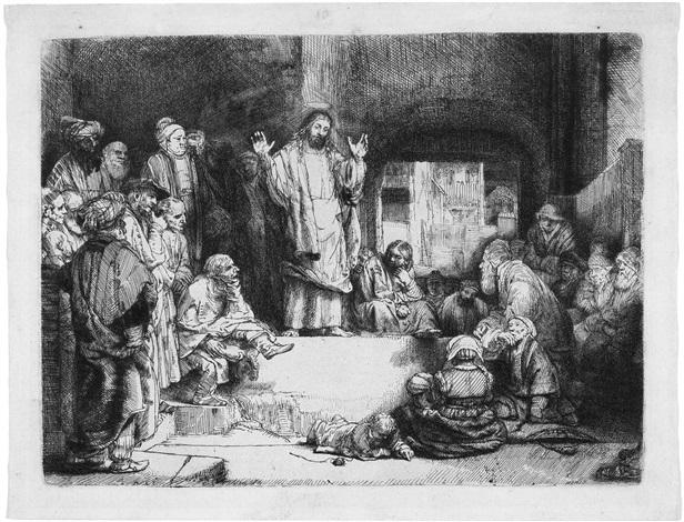 christus lehrend la petite tombe by rembrandt van rijn