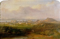a prospect of edinburgh looking north towards arthur seat, carlton hill and the firth of forth beyond by henry g. duguid