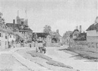 village street scene by john mallord bromley