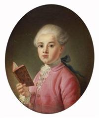 jeune garçon tenant un livre by johan-michael baader