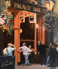 late summer evening at the palace bar by david mcelhinney