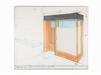 orange store front (project) by christo and jeanne-claude