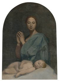 the virgin with the sleeping infant jesus by jean-auguste-dominique ingres