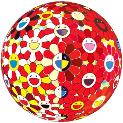 flowerball red 2d the magic flute by takashi murakami