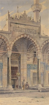 devant la mosquée by angelos giallina