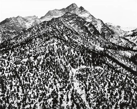 lone pine peak sierra nevada california by ansel adams