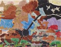 tornado i, ii, iii (3 works) by henry darger
