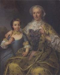 portrait d'une mère et sa fille by pierre allais