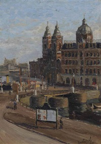 view of the st. nicolaaskerk, amsterdam by bart peizel