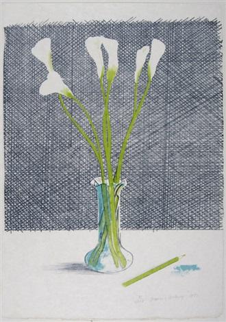 lillies (from europäische graphik vii) by david hockney